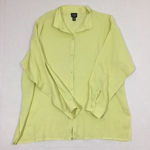 Women's Eileen Fisher Button Up Blouse Petite M